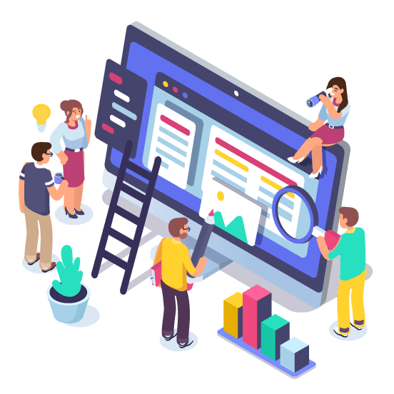 Webサイト制作ホームページデザインのイメージ図